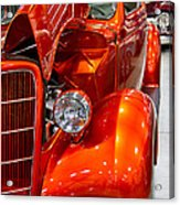 1935 Orange Ford-front View Acrylic Print