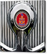 1935 Pierce-arrow 845 Coupe Emblem Acrylic Print