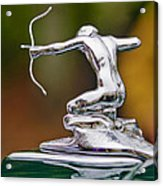 1935 Pierce-arrow 845 Coupe Hood Ornament Acrylic Print by Jill Reger