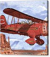 Monument Valley Bi-plane Acrylic Print