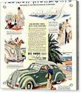 1936 - De Soto Airflow IIi Automobile Advertisement - Color Acrylic Print