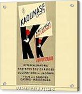 1936 - Kaolinase Drug Advertisement - Color Acrylic Print