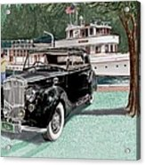 Bentley Waving To Malibu Acrylic Print