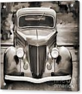 1936 Ford Roadster Classic Car Or Automobile Painting In Sepia  3120.01 Acrylic Print
