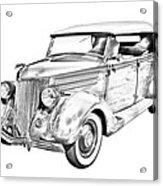 1936 Ford Phaeton Convertible Illustration  Acrylic Print