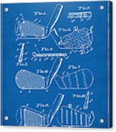 1936 Golf Club Patent Blueprint Acrylic Print