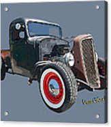 1936 Rat Rod Chevy Pickup Acrylic Print