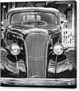 1937 Chevrolet Custom Convertible Bw Acrylic Print