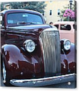 1937 Chevy Two Door Sedan Front And Side View Acrylic Print