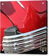1937 Desoto Chrome Bumper-7249 Acrylic Print