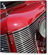 1937 Desoto Front Grill And Head Light 7285 Acrylic Print