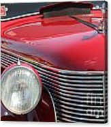 1937 Desoto Front Grill And Head Light-7289 Acrylic Print