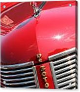 1937 Desoto Front Grill Acrylic Print