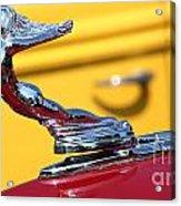 1937 Desoto Hood Ornament-7277 Acrylic Print