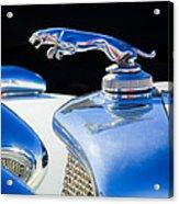 1937 Jaguar Prototype Hood Ornament -386c55 Acrylic Print