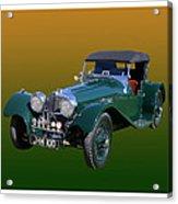 1937 Jaguar S S Onehundred  Acrylic Print
