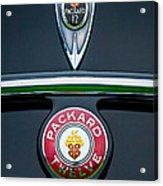 1937 Packard 1508 Twelve Convertible Sedan Emblems Acrylic Print