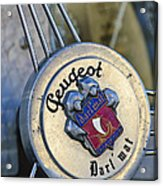 1937 Peugeot 402 Darl'mat Legere Special Sport Roadster Recreation Steering Wheel Emblem Acrylic Print