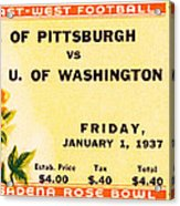 1937 Rose Bowl Ticket Acrylic Print