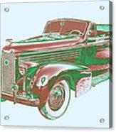 1938 Cadillac Lasalle Antique Pop Art Acrylic Print