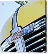1938 Chevrolet Coupe Hood Ornament -0216c Acrylic Print