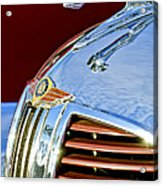 1938 Dodge Ram Hood Ornament 3 Acrylic Print by Jill Reger