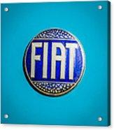 1938 Fiat 508c Berlinetta Speciale Emblem Acrylic Print