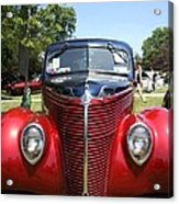 1938 Ford Two Door Sedan Front View Acrylic Print