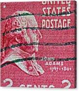 1938 John Adams Stamp Acrylic Print