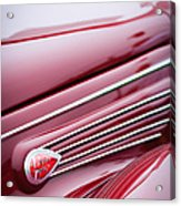 1938 Lincoln-zephyr Convertible Coupe Side Emblem Acrylic Print