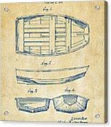 1938 Rowboat Patent Artwork - Vintage Acrylic Print by Nikki Marie Smith