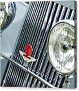 1939 Aston Martin 15-98 Abbey Coachworks Swb Sports Grille Emblems Acrylic Print
