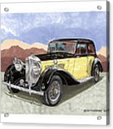 1939 Bentley Mark Four Sport Sedan Acrylic Print