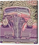 1939 Chevy Immenent Front Color Acrylic Print