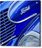 1939 Ford Woody Wagon Side Emblem Acrylic Print