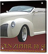 1939 Lincoln Zephyr Poster Acrylic Print