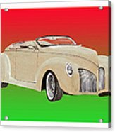 1939 Lincoln Zephyr Speedster Acrylic Print by Jack Pumphrey