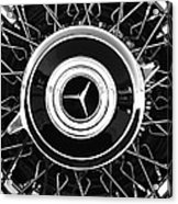 1939 Mercedes-benz 540k Special Roadster Wheel Rim Emblem Acrylic Print