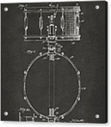 1939 Snare Drum Patent Gray Acrylic Print