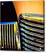 1939 Studebaker Champion Grille Acrylic Print by Carol Leigh