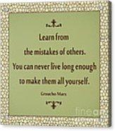 194- Groucho Marx Acrylic Print