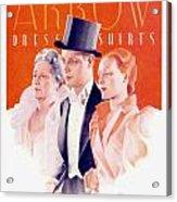1940 - Arrow Shirts Hans Flato Advertisement - 1940 Acrylic Print