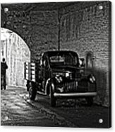 1940 Chevrolet Pickup Truck In Alcatraz Prison Acrylic Print by RicardMN Photography