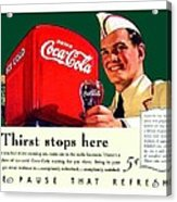 1940 - Coca-cola Advertisement - Color Acrylic Print