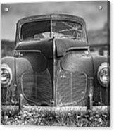 1940 DeSoto Deluxe Black and White Acrylic Print