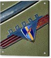 1940 Dodge Nameplate Acrylic Print