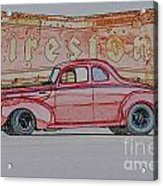1940 Ford Coupe Illustration Acrylic Print