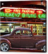 1940 Ford Deluxe Coupe At Mickeys Dinner  Acrylic Print