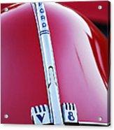 1940 Ford V8 Hood Ornament -323c Acrylic Print