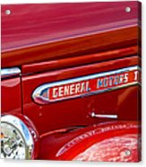 1940 Gmc Side Emblem Acrylic Print